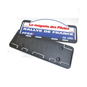 le magasin des pilotes : Support de plaque Rallye REDSPEC