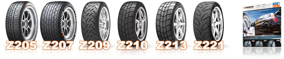 Le magasin des pilotes : pneus compétition hankook-rs z205 z209 z210 z213 z221